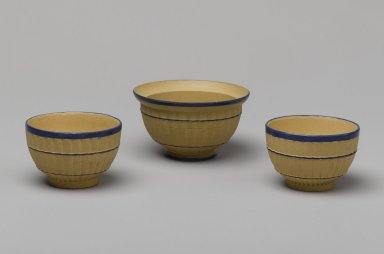 Josiah Wedgwood & Sons Ltd. (founded 1759). <em>Miniature Tea Bowl</em>, ca. 1800. Stoneware, Height x Diameter of Tea Bowl: 1 1/4 x 1 15/16 in. (3.2 x 4.9 cm). Brooklyn Museum, Gift of Emily Winthrop Miles, 61.199.68. Creative Commons-BY (Photo: , 61.199.66_61.199.67_61.199.68_PS2.jpg)