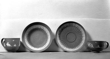 John Turner (1756-1786). <em>Saucer</em>. Stoneware Brooklyn Museum, Gift of Emily Winthrop Miles, 61.199.79. Creative Commons-BY (Photo: , 61.199.77_61.199.80_61.199.79_61.199.76_acetate_bw.jpg)