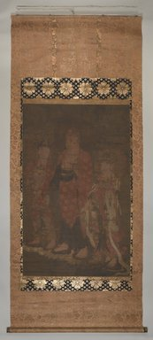 <em>Amit'a Triad</em>, 14th century. Ink, color and gold on silk, 51 1/4 x 32 1/4in. (130.2 x 81.9cm). Brooklyn Museum, Gift of Professor Harold G. Henderson, 61.204.30 (Photo: , 61.204.30_PS9.jpg)