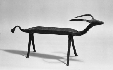<em>Animal Figure</em>, 19th century. Metal, 17 x 39 1/2 x 10 in. (43.2 x 100.3 x 25.4 cm). Brooklyn Museum, Caroline A.L. Pratt Fund, 61.208. Creative Commons-BY (Photo: Brooklyn Museum, 61.208_acetate_bw.jpg)