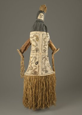 Pamí'wa, also known as Cubeo. <em>Dance Mask (Takü)</em>, 20th century. Bark cloth, wood, pigments, 69 x 24 x 22 1/2 in. (175.3 x 61 x 57.2 cm). Brooklyn Museum, Frank L. Babbott Fund, 61.34.2. Creative Commons-BY (Photo: Brooklyn Museum, 61.34.2_PS6.jpg)