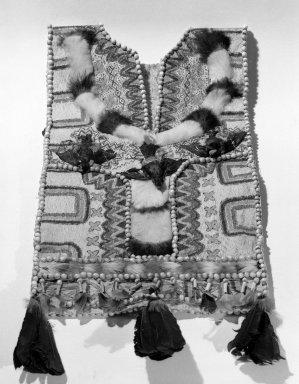 <em>Jivaro Poncho</em>. Bark cloth Brooklyn Museum, Caroline A.L. Pratt Fund, 61.35. Creative Commons-BY (Photo: Brooklyn Museum, 61.35_acetate_bw.jpg)