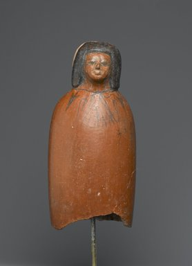 <em>Female Ancestral Bust</em>, ca. 1539-1190 B.C.E. Clay, pigment, 6 5/16 x 3 x 2 5/16 in. (16 x 7.6 x 5.8 cm). Brooklyn Museum, Charles Edwin Wilbour Fund, 61.49. Creative Commons-BY (Photo: Brooklyn Museum, 61.49_PS2.jpg)