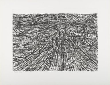 Anthony Gross (British, 1905-1984). <em>Valley No. 2</em>, 1959. Etching on medium weight wove paper, sheet: 20 1/4 x 25 1/4 in. (51.4 x 64.1 cm). Brooklyn Museum, Frederick Loeser Fund, 61.64. © artist or artist's estate (Photo: Brooklyn Museum, 61.64_PS4.jpg)
