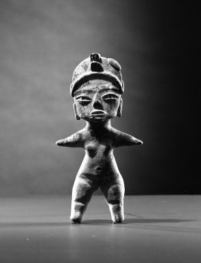 <em>Standing Female Figurine</em>. Clay Brooklyn Museum, Museum Collection Fund, 61.88b. Creative Commons-BY (Photo: Brooklyn Museum, 61.88b_acetate_bw.jpg)