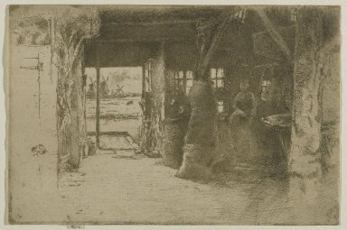 James Abbott McNeill Whistler (American, 1834-1903). <em>The Mill</em>. Etching, 6 3/8 x 9 1/2 in. (16.2 x 24.1 cm). Brooklyn Museum, Gift of Dr. and Mrs. Frank L. Babbott, Jr., 62.110.6 (Photo: Brooklyn Museum, 62.110.6_PS6.jpg)