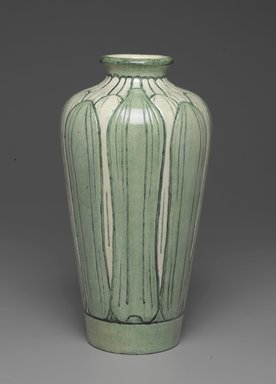 Newcomb Pottery. <em>Vase</em>, 1902-1904. Earthenware, Height: 12 in. (30.5 cm). Brooklyn Museum, Dick S. Ramsay Fund, 62.151. Creative Commons-BY (Photo: Brooklyn Museum, 62.151_PS2.jpg)