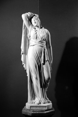 Richard Saltonstall Greenough (American, 1819-1904). <em>Mary Magdalene</em>, 1869. Marble, 70 3/8 x 24 1/2 x 19 1/2 in., 900 lb. (178.8 x 62.2 x 49.5 cm, 408.24kg). Brooklyn Museum, Gift of the Cooper Union Museum of Art, 62.153. Creative Commons-BY (Photo: Brooklyn Museum, 62.153_bw.jpg)