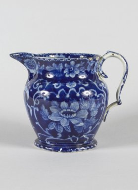 <em>Pitcher</em>, ca. 1830. Earthenware, 6 x 4 in. (15.2 x 10.2 cm). Brooklyn Museum, Gift of Mrs. William C. Esty, 62.176.69. Creative Commons-BY (Photo: Brooklyn Museum, 62.176.69_PS5.jpg)