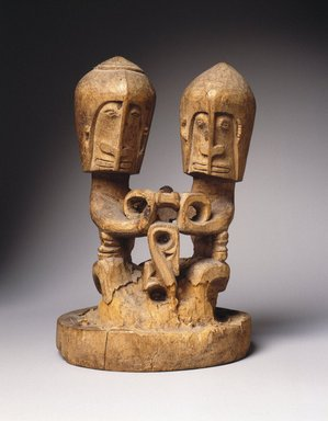 <em>Ancestral Figure (Korwar)</em>, early 20th century. Wood, 8 3/4 x 6 x 5 1/4 in.  (22.2 x 15.2 x 13.3 cm). Brooklyn Museum, Frank L. Babbott Fund, 62.18.2. Creative Commons-BY (Photo: Brooklyn Museum, 62.18.2_SL1.jpg)