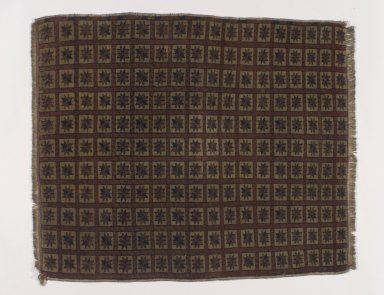 <em>Saddle Rug</em>, 19th century., Old Dims: 33 x 26 in. (83.8 x 66 cm). Brooklyn Museum, Gift of Dr. and Mrs. Frank L. Babbott, Jr., 62.79.3. Creative Commons-BY (Photo: Brooklyn Museum, 62.79.3.jpg)