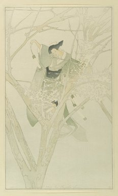 Bertha Lum (American, 1879-1954). <em>Yuki-Anna, The Frost Fairy</em>, 1916. Color woodcut on cream, thin, laid Japan paper, Sheet: 17 5/8 x 10 1/2 in. (44.8 x 26.7 cm). Brooklyn Museum, Gift of the Achenbach Foundation for Graphic Arts, 63.108.1. © artist or artist's estate (Photo: Brooklyn Museum, 63.108.1_PS1.jpg)