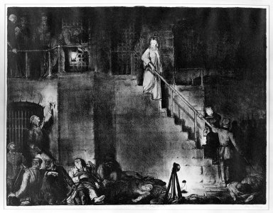 "George Wesley Bellows (American, 1882-1925). <em>Murder of Edith Cavell  ""The War Series,""</em> 1918. Lithograph on wove paper, Image: 18 7/8 x 24 13/16 in. (48 x 63 cm). Brooklyn Museum, Gift of Chester Dale, 63.155.12 (Photo: Brooklyn Museum, 63.155.12_bw.jpg)"