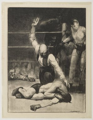 George Wesley Bellows (American, 1882-1925). <em>Counted Out No. 2</em>, 1921. Lithograph on thin wove paper, Sheet: 17 1/8 x 13 3/16 in. (43.5 x 33.5 cm). Brooklyn Museum, Gift of Chester Dale, 63.155.1 (Photo: Brooklyn Museum, 63.155.1_PS6.jpg)