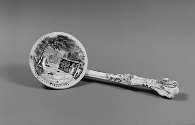 "J & J Jackson. <em>Ladle, ""Rapids above Hadley's Falls,""</em> ca. 1835. Earthenware, Length: 7 3/8 in. (18.7 cm). Brooklyn Museum, Gift of Mrs. William C. Esty, 63.186.82c. Creative Commons-BY (Photo: Brooklyn Museum, 63.186.82_bw.jpg)"