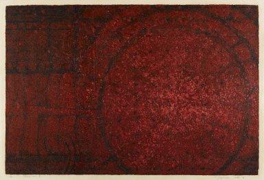 Kazutoshi Sugiura (born 1938). <em>Chaos No. 8</em>, 1961. Serigraph on paper, 18 7/8 x 28 1/8 in. (47.9 x 71.4 cm). Brooklyn Museum, Carll H. de Silver Fund, 63.67.1. © artist or artist's estate (Photo: Brooklyn Museum, 63.67.1_IMLS_PS4.jpg)