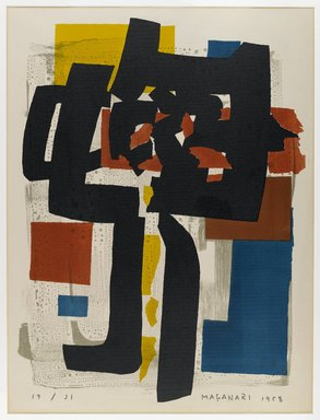 Masanari Murai (Japanese, 1905-1999). <em>Oni</em>, 1958. Lithograph on paper, sheet/image: 25 3/4 x 20 in. (65.4 x 50.8 cm). Brooklyn Museum, Carll H. de Silver Fund, 63.68.14. © artist or artist's estate (Photo: Brooklyn Museum, 63.68.14_IMLS_PS4.jpg)