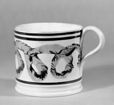 <em>Mug</em>. Earthenware Brooklyn Museum, Gift of Al Lewis, 63.93.11. Creative Commons-BY (Photo: Brooklyn Museum, 63.93.11_bw.jpg)