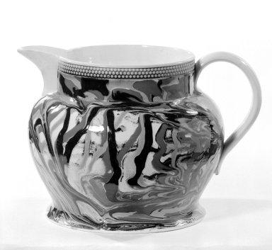 <em>Jug</em>. Earthenware, glazed Brooklyn Museum, Gift of Al Lewis, 63.93.3. Creative Commons-BY (Photo: Brooklyn Museum, 63.93.3_bw.jpg)