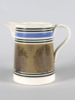 <em>Jug</em>. Mocha ware Brooklyn Museum, Gift of Al Lewis, 63.93.4. Creative Commons-BY (Photo: Brooklyn Museum, 63.93.4_PS5.jpg)