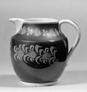 <em>Jug</em>. Earthenware Brooklyn Museum, Gift of Al Lewis, 63.93.5. Creative Commons-BY (Photo: Brooklyn Museum, 63.93.5_bw.jpg)