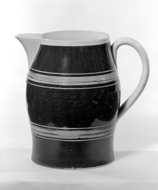<em>Jug</em>. Earthenware Brooklyn Museum, Gift of Al Lewis, 63.93.6. Creative Commons-BY (Photo: Brooklyn Museum, 63.93.6_bw.jpg)