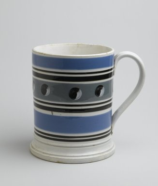 <em>Mug</em>. Earthenware, 5 5/8 x 6 1/4 x 4 1/2 in. (14.3 x 15.9 x 11.4 cm). Brooklyn Museum, Gift of Al Lewis, 63.93.7. Creative Commons-BY (Photo: Brooklyn Museum, 63.93.7_PS6.jpg)