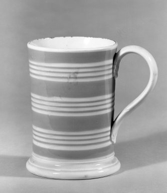 <em>Mug</em>. Earthenware Brooklyn Museum, Gift of Al Lewis, 63.93.9. Creative Commons-BY (Photo: Brooklyn Museum, 63.93.9_bw.jpg)