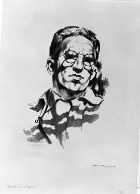 Auguste Brouet (French, 1872-1941). <em>Self Portrait</em>, n.d. Etching on wove paper, Plate: 8 9/16 x 6 5/8 in. (21.8 x 16.8 cm). Brooklyn Museum, Gift of The Louis E. Stern Foundation, Inc., 64.101.26 (Photo: Brooklyn Museum, 64.101.26_bw.jpg)