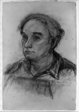 Max Weber (American, born Russia, 1881-1961). <em>Portrait of William Zorach,  Sculptor</em>, n.d. Charcoal on paper, Sheet: 19 5/16 x 13 1/8 in. (49.1 x 33.3 cm). Brooklyn Museum, Gift of Mr. and Mrs. Tessim Zorach, 64.102 (Photo: Brooklyn Museum, 64.102_acetate_bw.jpg)