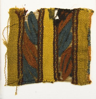 <em>Textile Fragment, undetermined</em>, 1400-1532. Camelid fiber, 5 1/2 x 5 7/8 in. (14 x 15 cm). Brooklyn Museum, Gift of Adelaide Goan, 64.114.179 (Photo: Brooklyn Museum, 64.114.179_front_PS5.jpg)