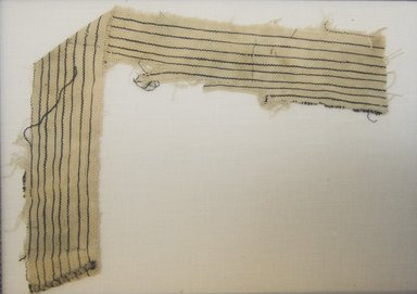 <em>Textile Fragment, undetermined</em>, 1532-1700 or 1000-1400. Cotton, (35.0 x 5.0 cm). Brooklyn Museum, Gift of Adelaide Goan, 64.114.198 (Photo: Brooklyn Museum, 64.114.198_front_PS5.jpg)