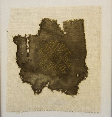 <em>Textile Fragment, undetermined</em>, 1000-1400., 5 1/8 x 5 7/16 in. (13 x 13.8 cm). Brooklyn Museum, Gift of Adelaide Goan, 64.114.49 (Photo: Brooklyn Museum, 64.114.49_front_PS5.jpg)