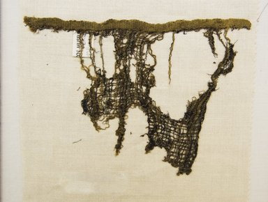 Chimú. <em>Textile Fragment, undetermined or possible Headcloth, Fragment</em>, 1000-1532. Cotton, camelid fiber, 5 1/2 x 7 7/8in. (14 x 20cm). Brooklyn Museum, Gift of Adelaide Goan, 64.114.4 (Photo: Brooklyn Museum, 64.114.4_front_PS5.jpg)