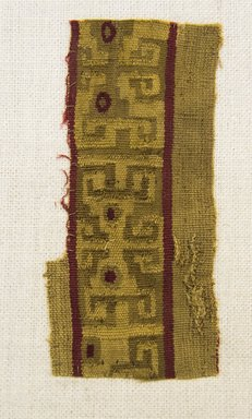 Inca/Moquegua. <em>Textile Fragment, undetermined</em>. Cotton, camelid fiber, 1 15/16 x 4 1/4 in. (5 x 10.8 cm). Brooklyn Museum, Gift of Adelaide Goan, 64.114.75.1 (Photo: Brooklyn Museum, 64.114.75.1_front_PS5.jpg)