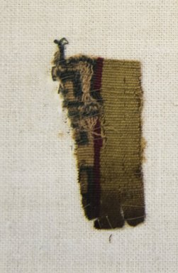 Inca/Moquegua. <em>Textile Fragment, undetermined</em>. Cotton, camelid fiber, 1 3/16 x 2 3/8 in. (3 x 6 cm). Brooklyn Museum, Gift of Adelaide Goan, 64.114.75.4 (Photo: Brooklyn Museum, 64.114.75.4_front_PS5.jpg)