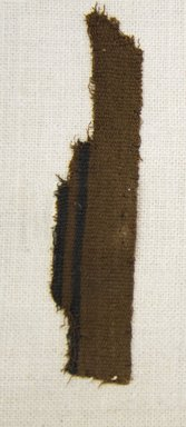 Chimú. <em>Textile Fragment, undetermined</em>, 1000-1532. Cotton, 1 3/16 x 3 15/16 in. (3 x 10 cm). Brooklyn Museum, Gift of Adelaide Goan, 64.114.75.6 (Photo: Brooklyn Museum, 64.114.75.6_front_PS5.jpg)