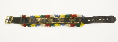 Quechua. <em>Belt</em>. Leather, brass, wool, 2 3/8 x 35 1/16 in. (6 x 89 cm). Brooklyn Museum, Gift of Dr. Werner Muensterberger, 64.210.17. Creative Commons-BY (Photo: Brooklyn Museum, 64.210.17_front_PS5.jpg)