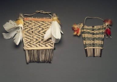 <em>Comb</em>. Wooden sticks, natural fiber, feathers Brooklyn Museum, A. Augustus Healy Fund, 64.214.21. Creative Commons-BY (Photo: , 64.214.15_64.214.21.jpg)