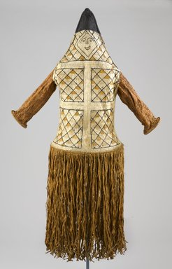 Pamí'wa, also known as Cubeo. <em>Anthropomorphic Mask</em>, 20th century. Bark cloth, wood, pigments, 59 x 20 x 15 in. (149.9 x 50.8 x 38.1 cm). Brooklyn Museum, A. Augustus Healy Fund, 64.214.61. Creative Commons-BY (Photo: Brooklyn Museum, 64.214.61_front_PS9.jpg)