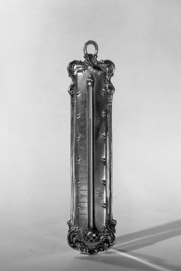 Tiffany & Company (American, founded 1853). <em>Thermometer</em>, ca. 1900. Silver, glass, mercury, 9 1/4 x 2 1/8 in. (23.5 x 5.4 cm). Brooklyn Museum, Anonymous gift, 64.241.85. Creative Commons-BY (Photo: Brooklyn Museum, 64.241.85_acetate_bw.jpg)