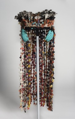 Tembé. <em>Ceremonial Headdress for Girls</em>, circa 1964. Feathers, cotton, bird skins, 21 × 8 × 9 in. (53.3 × 20.3 × 22.9 cm). Brooklyn Museum, Gift of Ingeborg de Beausacq, 64.248.25. Creative Commons-BY (Photo: , 64.248.25_front_PS11.jpg)