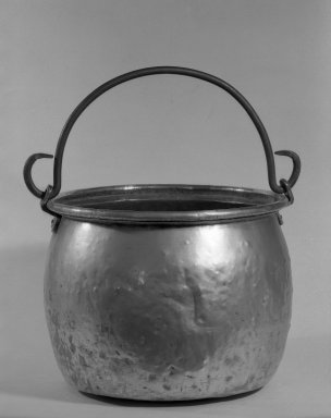 <em>Kettle</em>, ca. 1670. Brass, 11 x 14 1/2 in. (27.9 x 36.8 cm). Brooklyn Museum, Purchased with funds given by anonymous donors, 64.46.5. Creative Commons-BY (Photo: Brooklyn Museum, 64.46.5_acetate_bw.jpg)