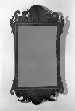 Joseph del Vecchio. <em>Looking Glass</em>, ca. 1804. Mahogany, 29 1/2 x 16 1/4 in. (74.9 x 41.3 cm). Brooklyn Museum, Purchased with funds given by anonymous donors, 64.5.1. Creative Commons-BY (Photo: Brooklyn Museum, 64.5.1_acetate_bw.jpg)
