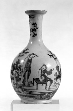 <em>Vase</em>, ca. 1760. Lambeth Delft, 9 1/4 in. (23.5 cm). Brooklyn Museum, Bequest of H. Randolph Lever, 64.80.52. Creative Commons-BY (Photo: Brooklyn Museum, 64.80.52_bw.jpg)