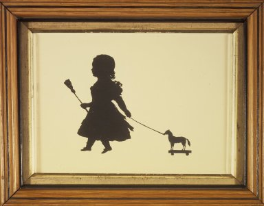 <em>Silhouette of Miss Jane Ann MacKenzie</em>, ca. 1830. Paper, wood, pigment, 7 3/4 x 10 in. (19.7 x 25.4 cm). Brooklyn Museum, Gift of the Estate of Emily Winthrop Miles, 64.82.399 (Photo: Brooklyn Museum, 64.82.399.jpg)