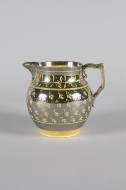 Josiah Wedgwood & Sons Ltd. (founded 1759). <em>Pitcher</em>, ca. 19th century. Earthenware, 3 1/2 x 5 1/4 x 4 5/8 in. (8.9 x 13.3 x 11.7 cm). Brooklyn Museum, Gift of the Estate of Emily Winthrop Miles, 64.82.7. Creative Commons-BY (Photo: Brooklyn Museum, 64.82.7_PS5.jpg)