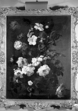 Mary Moser (English, 1744-1819). <em>Flowers, Still Life (Jardiniere of Flowers)</em>, ca. 1780. Oil on canvas, 34 x 26 1/4 in.  (86.4 x 66.7 cm). Brooklyn Museum, Gift of Mr. and Mrs. Daniel L. Silberberg, 64.92.5 (Photo: Brooklyn Museum, 64.92.5_acetate_bw.jpg)
