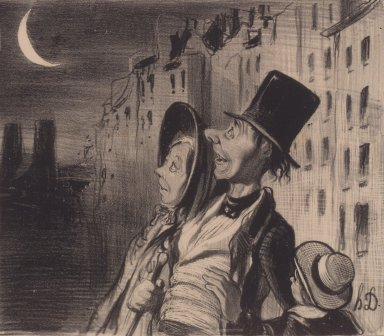 Honoré Daumier (French, 1808-1879). <em>La Vue</em>, August 4, 1839. Lithograph on wove paper, Sheet: 9 15/16 x 13 7/16 in. (25.2 x 34.1 cm). Brooklyn Museum, Gift of the Estate of Emily Winthrop Miles, 64.98.301 (Photo: Brooklyn Museum, 64.98.301.jpg)