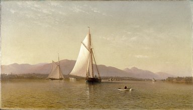 Francis Augustus Silva (American, 1835-1886). <em>The Hudson at the Tappan Zee</em>, 1876. Oil on canvas, frame: 33 1/2 x 51 11/16 x 4 5/8 in. (85.1 x 131.3 x 11.7 cm). Brooklyn Museum, Dick S. Ramsay Fund, 65.10 (Photo: Brooklyn Museum, 65.10_SL1.jpg)